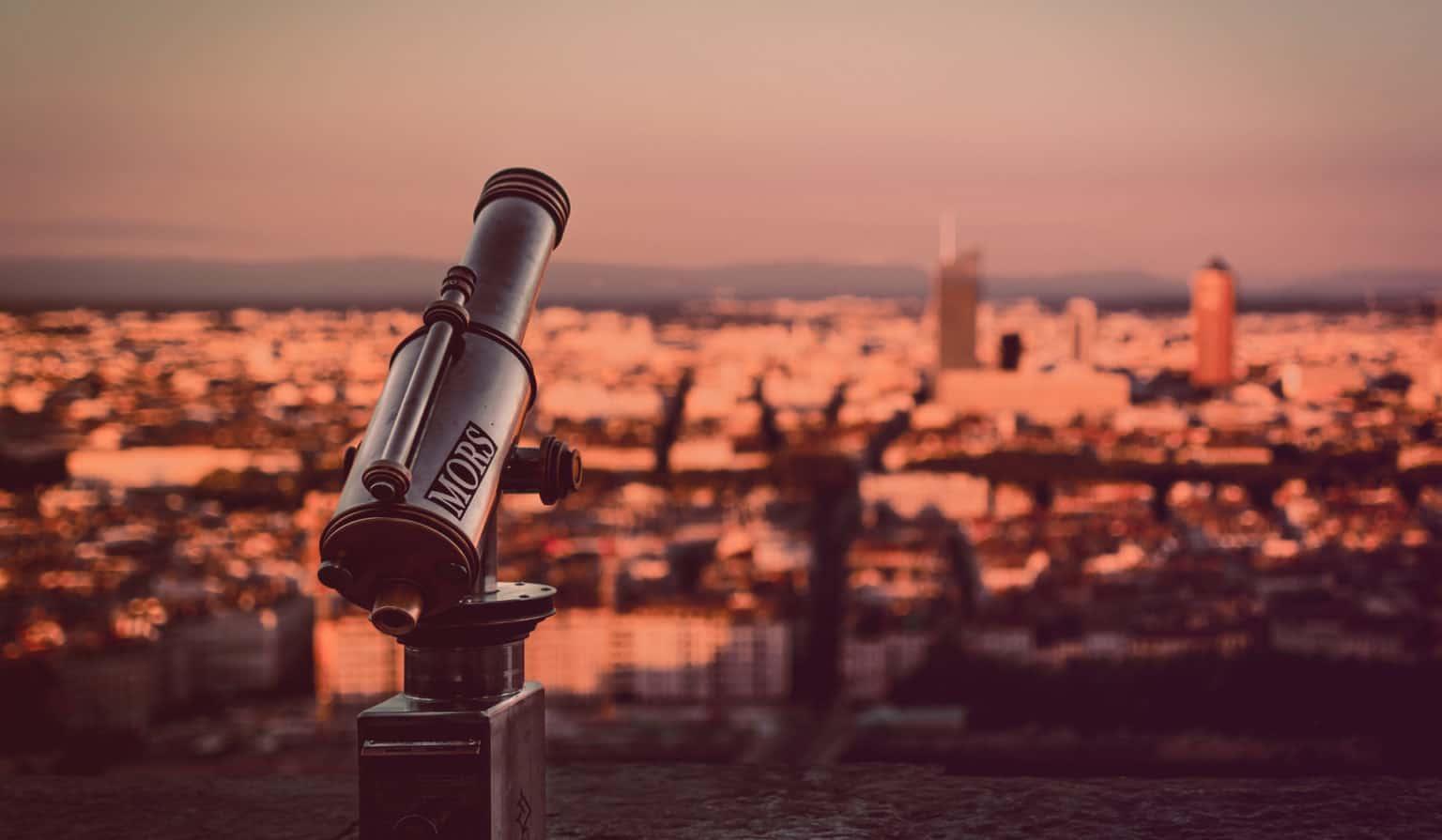 Lyon, Longue vue orientée en direction de la ville